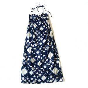 LC connard cotton halter neck maxi dress